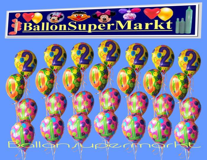 Ballons silvester ballon buketts for Silvester dekoration